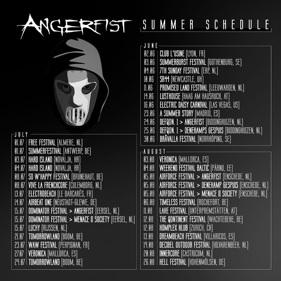 Angerfist Schedule