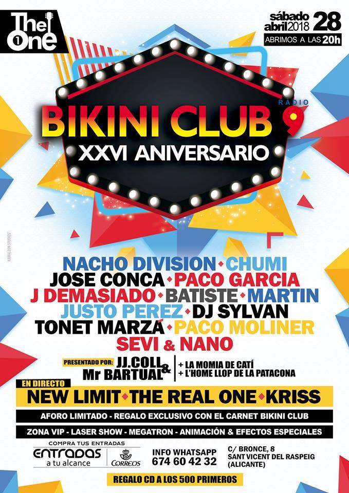 The One - Bikini Club XXVI Anviersario
