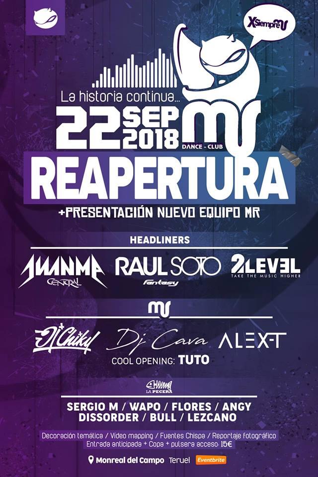 MR Dance Club - Reapertura 2018